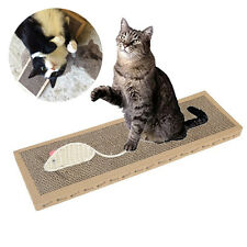 Cat Kitten Scratch Pad Toy Play Corrugated Safe Card Board Scratcher Bed Toys