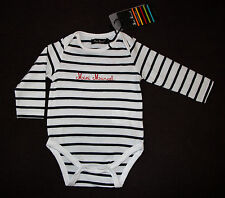 MINI MARCEL LITTLE MARCEL body manches longues marin mixte 12 mois NEUF