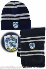 HARRY POTTER Ravenclaw House *LICENSED* HAT & *REAL* WOOL SCARF w/Crest  Beanie