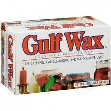 Gulf Wax Paraffin Candlemaking Crafts Canning Wax 1 lb. Box 4 Slabs