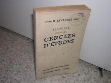 1936.manuel pour les cercles d'études / Levassor.catholique.non coupé