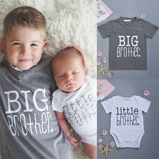 Newborn Baby Boys Romper Bodysuit Big Brother T-shirt Tops Outfits Big Brother