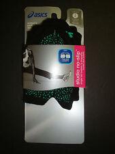 NEW $16 ASICS WOMEN'S STUDIO NO-SLIP SINGLE TAB TOELESS SOCKS BLACK S 6-7.5