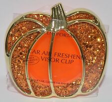 BATH & BODY WORKS SPARKLY PUMPKIN SCENTPORTABLE HOLDER CAR VISOR CLIP FRESHENER