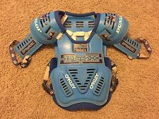 RARE Vintage 1980's FOX RACING ROOST 2 Chest Protector BLUE Dunlop OAKLEY MX BMX