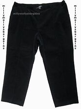 New Womens Marks & Spencer Classic Black Cord Trousers Size 14 Short LABEL FAULT