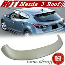 New ABS Painted Mazda 3 OE Style Rear Roof Spoiler Wing 14-16 Hatchback 5D