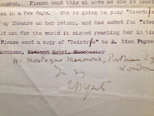 Irish Poet W.B. YEATS Typed Letter Signed mentioning Mrs. Patrick Campbell