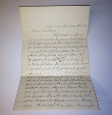 Antique Old Seneca Hotel Fire / Disaster - Letter C1883 New York - Congress