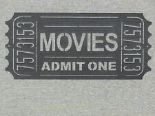 Large Wall Movie Ticket Wall Art Admit One Theater Sign Art Decor