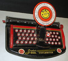 Vintage Marx Junior Dial Typewriter (1940's or 1950's)