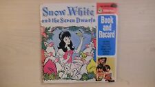 Peter Pan Record SNOW WHITE AND THE SEVEN DWARFS Book & Record 45rpm 60s
