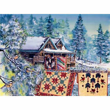BEAR'S PAW RANCH by Diane Phalen - NEW 1500 piece SunsOut Puzzle Quilts Cabin