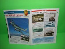 MESSERSCHMITT ME 210/410 HORNISSE AIRCRAFT FACTS CARD AIRPLANE BOOK 206
