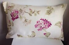 "NEW 12"" x 20""  Purple and Green Floral Flower Shabby Chic Cushion Cover"