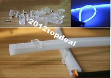 2x 60cm DC 12V DRL DayTime Running LED Blue Flexible Tube Headlight Audi Style