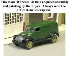 HO SCALE: 1941-47 CHEVROLET 1-1/2 TON PANEL VAN w/DUAL WHEELS-Sylvan-Kit #V-205