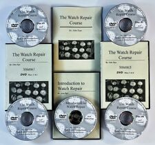 Watch repair courses. 5 DVD videos! New! Manual included.