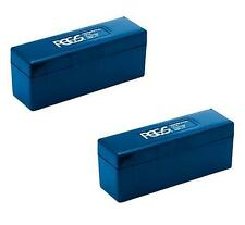 2 x PCGS Blue Plastic Coin Storage Box to Hold 40 PCGS Slabbed Coins