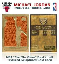 MICHAEL JORDAN 1986 Fleer ROOKIE Feel The Game Gold Card - Basketball Textured