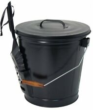 Steel Ash Bucket + Shovel Fire Fire Place Ashes Fireside Safe Removal Cleaning