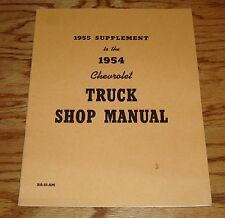 1955 Chevrolet Truck Supplement to 1954 Chevy Truck Shop Manual