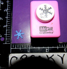 SNOWFLAKE 9/16 INCH PAPER PUNCH MCGILL CRAFTIVITY # 230