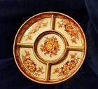 Vintage Porcelain Divided Serving Dish Made in Japan Hand Painted MINT CONDITION