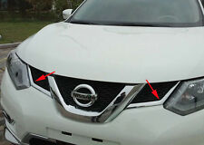 Chrome Front Grille Central Cover Trim for Nissan X-Trail Rogue 2014 2015 2016