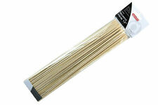Apollo 100 x Wooden BBQ Grilling Skewers Bar-B-Q Kebab Sticks 30cm Bamboo Skewer