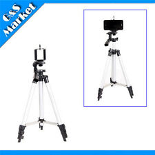 Tripod Stand Holder 4 sections + Phone clip sz XL For IPHONE 4/4S/5 HTC Samsung