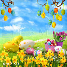 Easter day 8'x8' Computer-painted outdoor Scenic background backdrop SW385B88