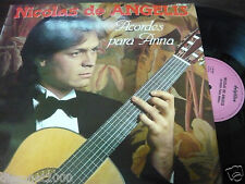 "NICOLAS DE ANGELIS - Acordes Para Anna, LP 12"" RARE SPAIN 1981 NEAR MINT"