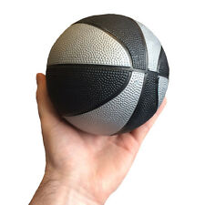MINI BLACK & SILVER BASKETBALL INDOOR OUTDOOR SPORTS - KIDS TOY SMALL BALL GIFT