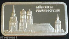 MUNCHEN FRAUENKIRCHE ~DEGUSSA MINT ~FEINSILBER .999 SILVER BAR ~MADE IN GERMANY