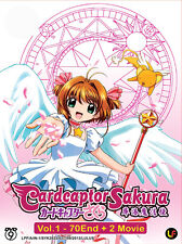 DVD Anime: Cardcaptor Sakura (1-70 End + 2 Movie) Complete Box *Good_Eng_Sub*