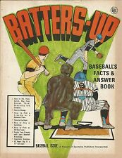 VINTAGE 1970 BATTERS-UP BASEBALL FACTS ANSWERS BOOK HOW TO HIT PITCH TRIVIA STAT
