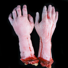 1 PC Severed Cut Off Bloody Latex Lifesize Fake Arm Hand Scary Halloween Prop