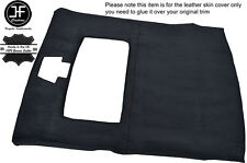 BLACK STICH ROOF HEADLINING LINER PU SUEDE COVER FITS FORD SIERRA COSWORTH 3 DR