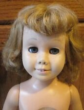 """Vintage 1960's Mattel CHATTY CATHY blonde Doll MISSING string Mute nude 19"""""""