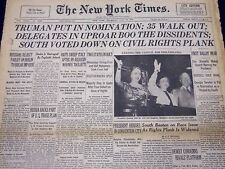 1948 JUL 15 NEW YORK TIMES - TRUMAN PUT IN NOMINATION, 35 WALKOUT - NT 156