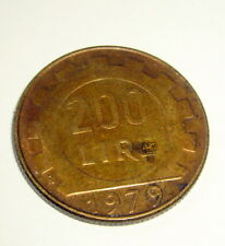1979 R Italy 200 Lire Coin