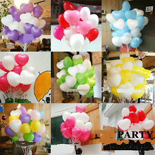 100 x Heart-Shaped Latex Balloons Wedding Party Birthday Decoration