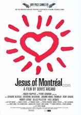 JESUS OF MONTREAL Movie POSTER 27x40 Gilles Pelletier Lothaire Bluteau Catherine