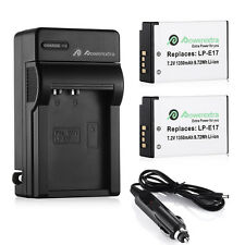 2x LP-E17 Battery + Charger For Canon EOS Rebel T6i T6s M3 750D 760D Kiss x8i