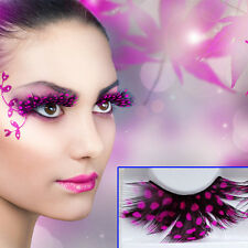 Wholesale Exaggerated Rose Red Spots Makeup False Eyelashes For Masquerade