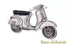 "VESPA Aufnäher ""V50"" - Silber - 50N 50 N L R S PK PX GL GT TS Grau Piaggio Patch"