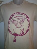 NEIL YOUNG American Tour Eagle 1976 CRAZY HORSE MENS MUSIC T SHIRT