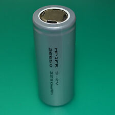 1X 3.2V LiFePO4 Li-ion IFR26650 energy type 3200mAh flat cap battery cell