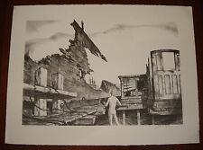 John A Noble Maritime Artist Signed 1971 LE Litho HEART OF THE BONEYARD Ed:200